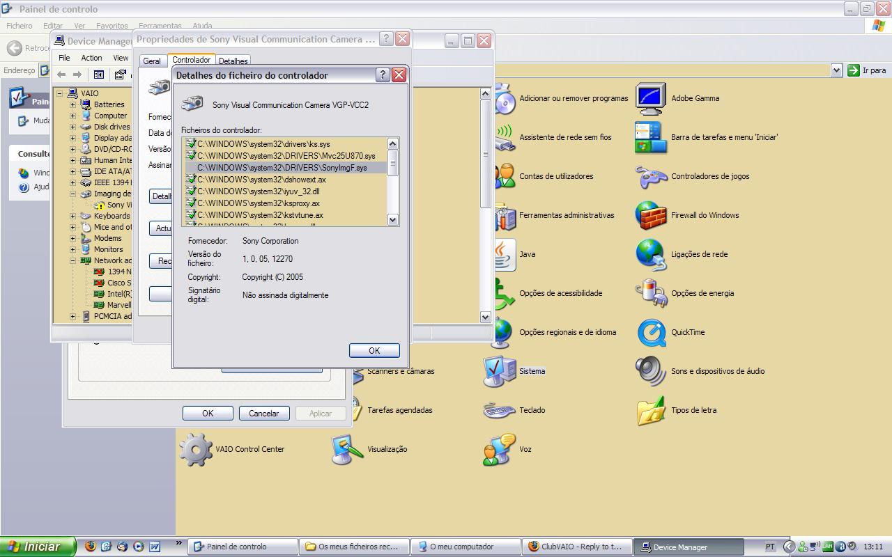 VGP-VCC2 TREIBER WINDOWS XP