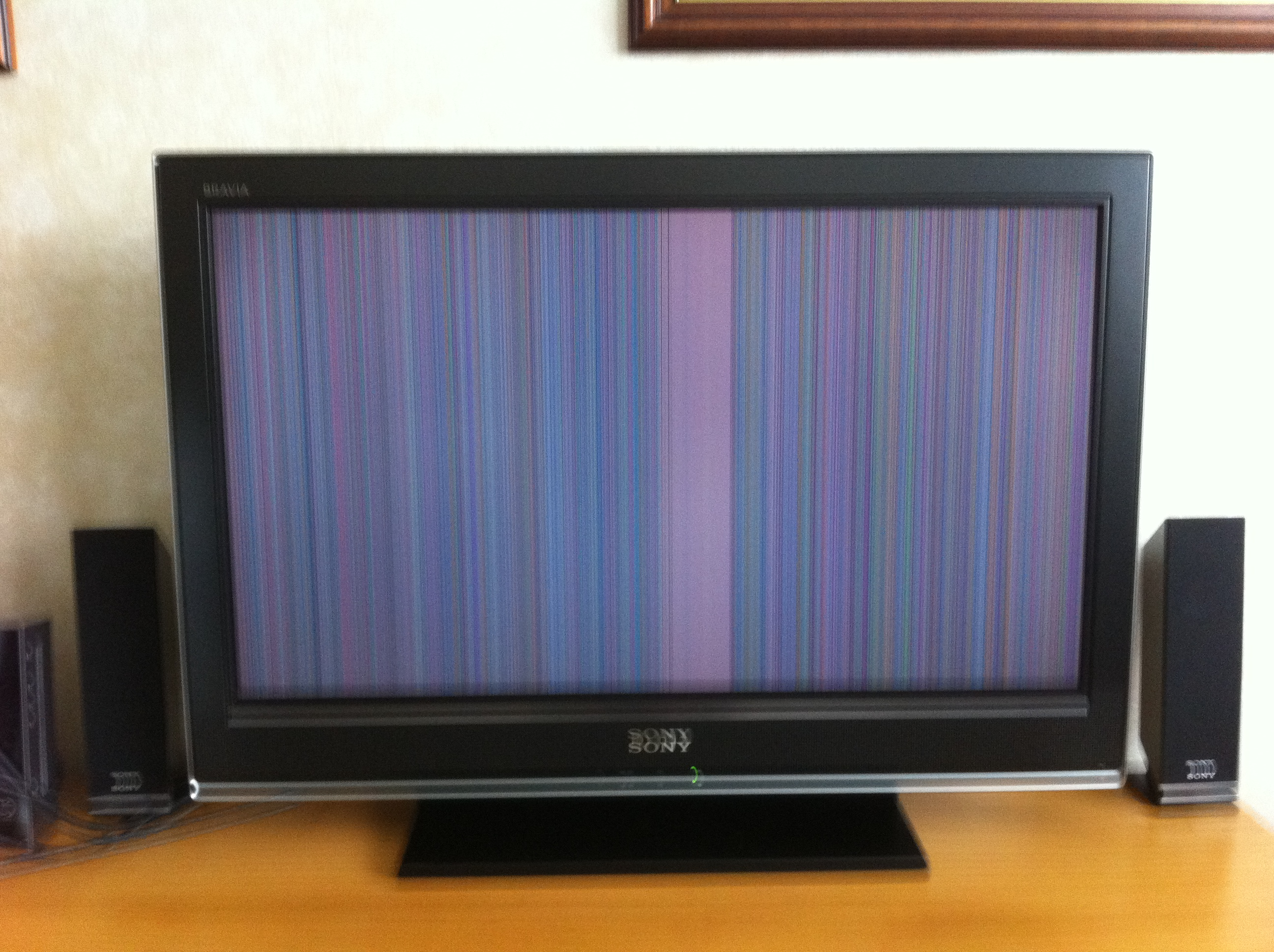 how to get rid of vertical line on led tv